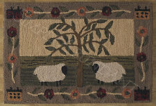 Willow & Sheep Rug by Park Designs, 24x36, Lovely Country Design, Hand Hooked