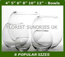 NEW Hand Made Glass Fish Bowls Large Decorative Wedding Vases 6 DIFFERENT SIZES