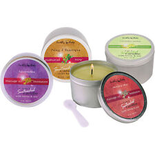 EARTHLY BODY 3 IN 1 SOY & HEMP SEED OIL SUNTOUCHED MOISTURIZING MASSAGE CANDLES