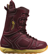 Burton Freestyle Snowboard Boots Burgundy/Yellow Mens