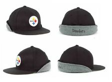 NFL Pittsburgh Steelers Flex Cap Hat With Winter Ear Flaps NEW