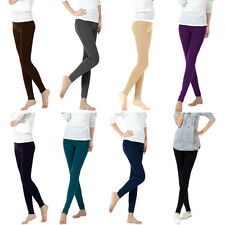 Bamboo Carbon Fiber Leggings Double Thermal Warm Footless Tights Pants Hosiery