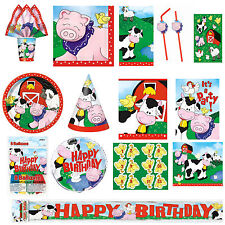 Farm Animals Theme Birthday Party Supplies Tableware Decorations Favors Free P+P