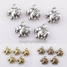 30pcs Tibetan silver Elephant Charm Pendants Findings For Jewelry Making 3 Color