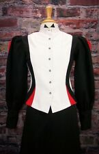 FRONTIER CLASSICS  Victorian Black and White Fitted Old West Blouse Steampunk