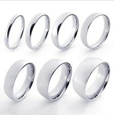Momen's Men's 316L Stainless Steel Silver Engagement Wedding Band Ring M074336