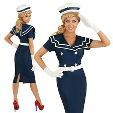 Adult 50s Pin Up Navy Sailor Costume Rockabilly Clothing Fancy Dress Outfit