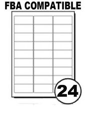 A4 Sheets 24 Printer Labels Sheet Sticky Address Barcode For Amazon FBA - UK