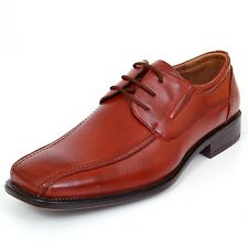 Mens Dress Shoes Lace up Oxfords Leather Lined Baseball Stitching Free Shoe Horn