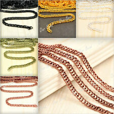 4m Curb Chains Unfinished Chains Necklace Chains DIY Handmade Free Ship Bulk Lot