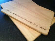 PERSONALISED ENGRAVED WOODEN CHOPPING BOARD 2 SIZES NEW HOME WEDDING GIFT