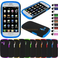 Dual Hybrid Silicone Shock Proof Hard Case Cover 4 Samsung Galaxy S3 Mini i8190