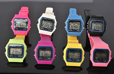 New 8 colors Day Date ALM  Digital Quartz Mens Womens Wrist Band Gift Watches