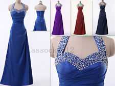 7 Colours New Bridesmaid Prom Formal Party Gown Dress Size 6 8 10 12 14 16.18