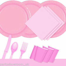 Pretty Pink Tableware Party Table Cover Napkins Cups Cutlery Plates PS