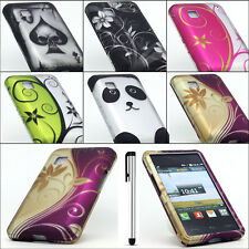 For LG 840G Tracfone Exotic Designs Rubberized Hard Cover Case + Free Stylus Pen