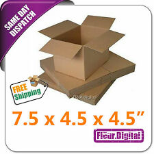 """Small Robust Double Cardboard Packing Parcel Postal Mail Boxes 7.5 x 4.5 x 4.5"""""""