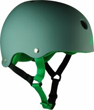 Grey and Green Triple 8 Roller Derby Skate Helmet - Skating Protective Gear