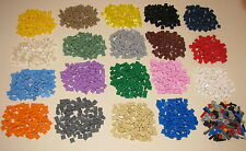 LEGO COLORED 1 X 1 DOT PLATES PIECES BRICKS BUILDING BLOCKS YOU PICK 100 PER LOT