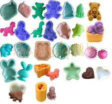 18 shape Mixed Silicone Mould for Soap Craft Candle Cake Decorating Fondant Fimo