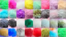 FEATHERS Fluffy Marabou Pack Of Twenty 3 - 5 Inch Choice Of Colours Scrapbooking