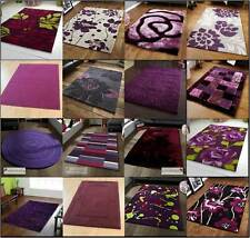 Modern Purple Aubergine Plum Colour Rugs In Large Small Medium Room Sizes