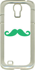 White and Colorful Mustaches on Samsung Galaxy S4 Hard or Rubber Case Cover