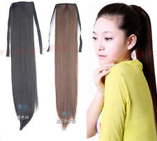 Three Color Long Straight Women's Cute Synthetic Ponytail Lovely Hair Extensions