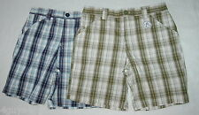 Womens PLAID BERMUDA SHORTS Blue Green S 6 M 8-10 L 12-14 1X 16-18 3X 24-26