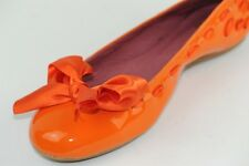 DUO Lizzie Patent leather ballet pumps with oversized Bow size UK 2 & 5  Width V