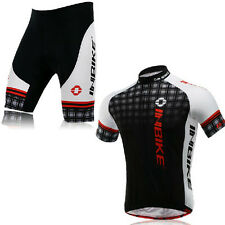 Hot Cycling Bicycle BIKE Comfortable outdoor Jersey + Shorts size M- XXL Black