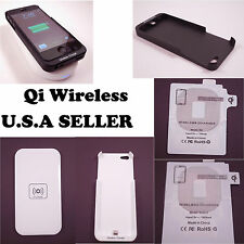 Qi Wireless Induction Charger USB Transceiver Pad & Receiver for iPhone / Galaxy
