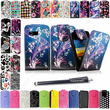 For Samsung Galaxy Y S5360 New Hot Stylish Printed Leather Flip Case+Free Stylus
