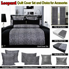 LEOPARD Quilt Cover Set- SINGLE DOUBLE QUEEN KING Super King Euro Cushion Sheet