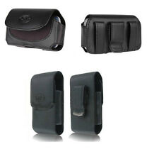 Horizontal + Vertical Leather Case Cover Pouch Clip w Belt Loops for ATT Phones