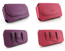Horizontal Leather Cover Case Pouch Holster Clip - Beautiful Colors!