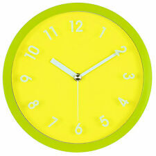 Home Kitchen Decor Accent Sweet Non-Ticking Silent Wall Clock - Assorted Colors