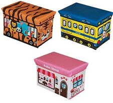 Kids Childrens Storage Seat Stool Toy Books Box Chest Train Fire Engine Bus Sale