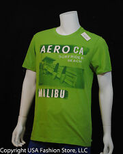 Aeropostale Men Short Sleeve Tshirt Graphic Green NWT