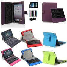 Removable Bluetooth Keyboard with Leather Case Cover Stand For Apple iPad 4 3 2