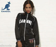 Kangol Black White & Pink or Blue & White Retro Tracksuit Top Jacket  Free Ship