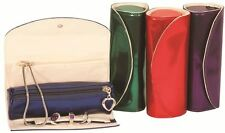 Mele & Co Travel Jewellery Roll with a Metallic Finish - 4 colours - 5138