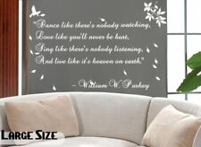 Fancy Writing Calligraphy Quote Wall Art Decal Window Decoration Stickers Mural
