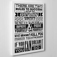 QUADRO Moderno su TELA Canvas - DESIGN Quotes Citazioni RULES OF SUCCESS - Art