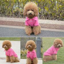 Cool Pet Doggy Apparel Dog POLO T-Shirts Tops Puppy Clothes Blue Red Pink XS-L