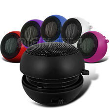 BLACK 3.5MM SPEAKER FITS ON NUMEROUS PHONES PORTABLE RECHARGEABLE