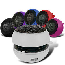 PORTABLE RECHARGEABLE WHITE 3.5MM SPEAKER FOR VARIOUS MOBILE PHONES