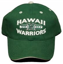 New! Hawaii Warriors Adjustable Velcro Back Hat Embroidered Cap - Green