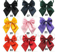Colors Adjustable Girl Women Bow Tie bowknot Tie for dancing wedding party