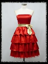 dress190 RED 50s BRIDESMAIDS WEDDING COCKTAIL VINTAGE EVENING PARTY PROM DRESS